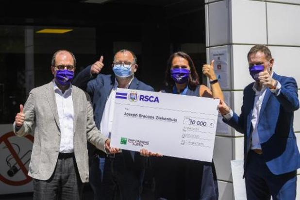 RSC Anderlecht schenkt 70.000 euro aan ziekenhuis
