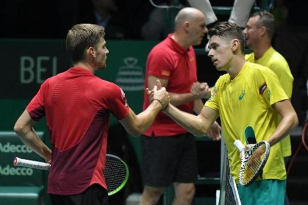 """Coupe Davis - De Minaur a qualifié l'Australie en battant Goffin: """"Une sensation merveilleuse!"""""""