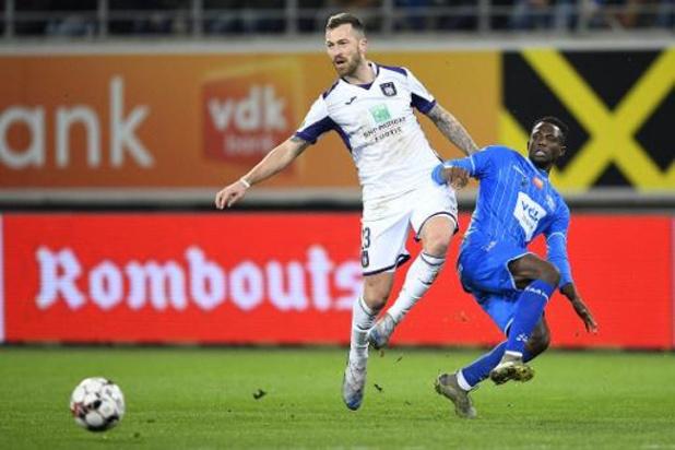 Jupiler Pro League - Anderlecht moet vrede nemen met een punt in Gent