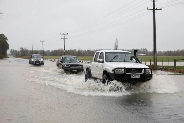 Zware overstromingen op zuidereiland Nieuw-Zeeland