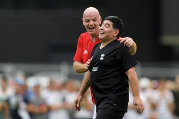 """Maradona overleden - FIFA-voorzitter Infantino: """"Trieste dag voor het voetbal"""""""