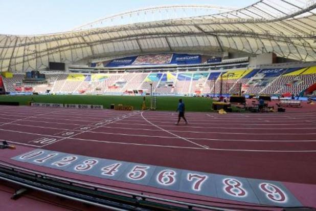 """Organisatie WK ateltiek verklaart leeg stadion: """"Late starttijden zijn de oorzaak"""""""
