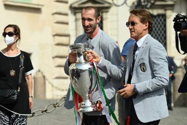 """Italiaanse president ontvangt Azzurri: """"Bewijs dat je in dromen mag geloven"""""""