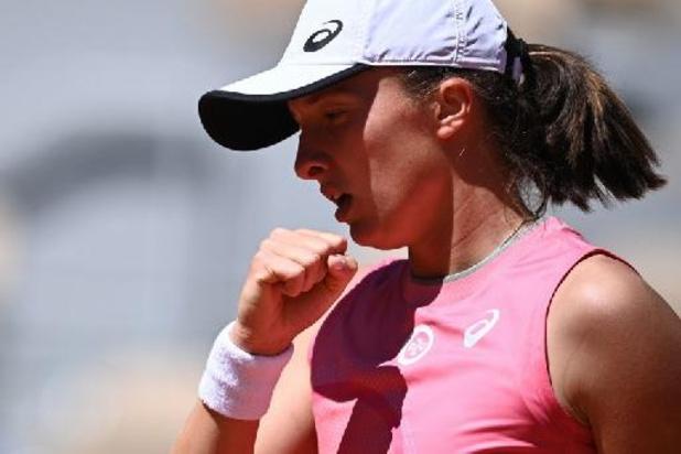 Titelverdedigster Swiatek verliest geen tijd in tweede ronde Roland Garros