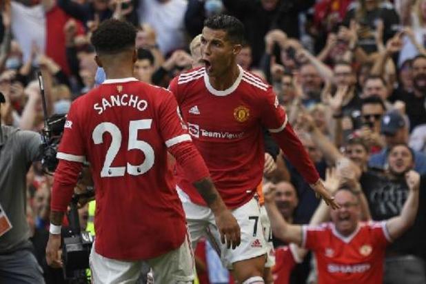 Premier League - Ronaldo ne manque pas son retour avec Manchester United en plantant un doublé