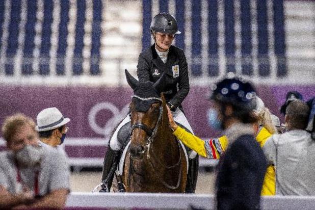 Eventingamazone Lara de Liedekerke geeft op vanwege lichte blessure bij haar paard