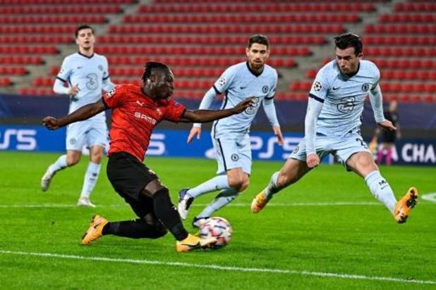Champions League - Doku gaat met Rennes in het slot onderuit tegen Chelsea, dat zeker is van tweede ronde