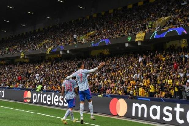 Ronaldo scoort meteen voor Manchester United in Champions League, maar gaat onderuit bij Young Boys Bern