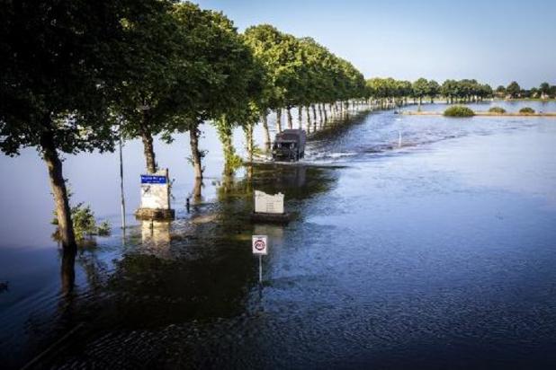 Hoogwater Maas verlaat Nederlands-Limburg