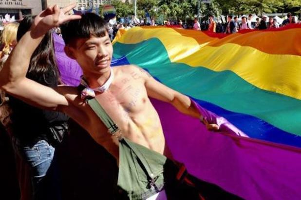 Holebiparade trekt 130.000 deelnemers in Taiwan