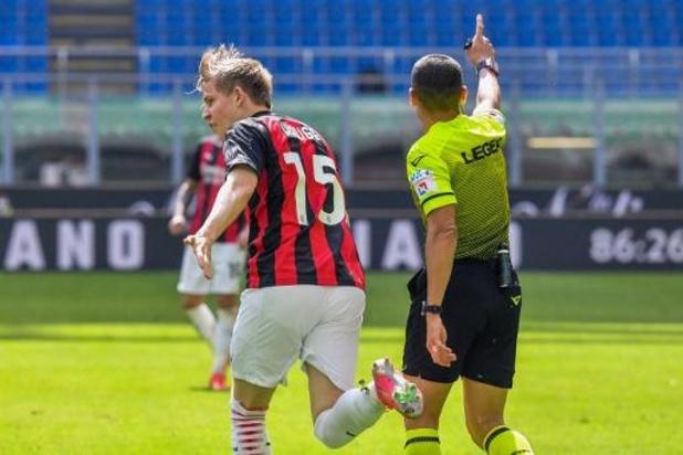 Milan geraakt met een man meer niet voorbij Sampdoria