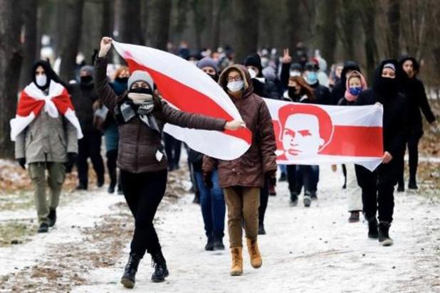 Eerste zondagsprotest in Wit-Rusland in nieuwe jaar