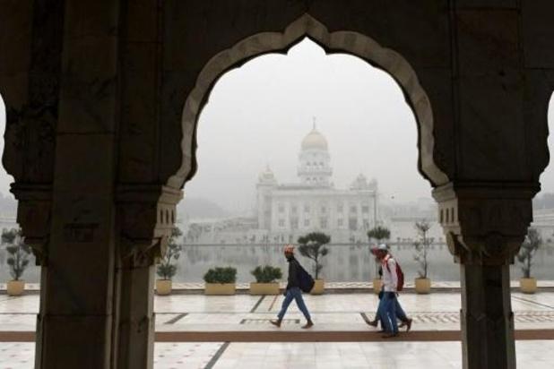 Froid et brouillard en Inde: du chauffage pour les tigres