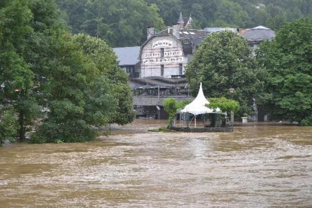 Intempéries - Province de Luxembourg: plus de 2.000 missions et 800 personnes déplacées
