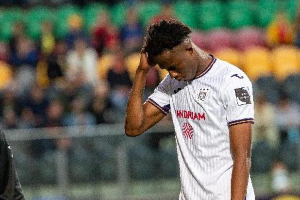 Christian Kouamé (Anderlecht) risque un match effectif et donc d'être absent contre Bruges