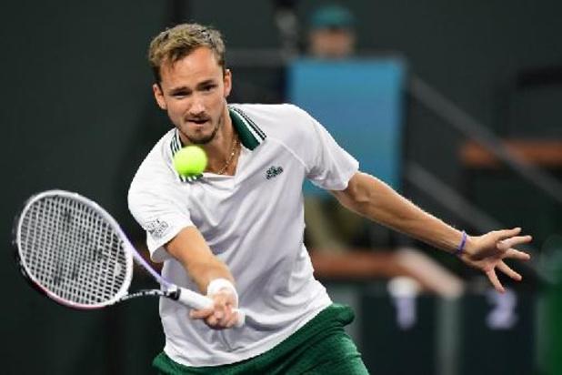 ATP Indian Wells - Topreekshoofd Daniil Medvedev verliest van Bulgaar Dimitrov
