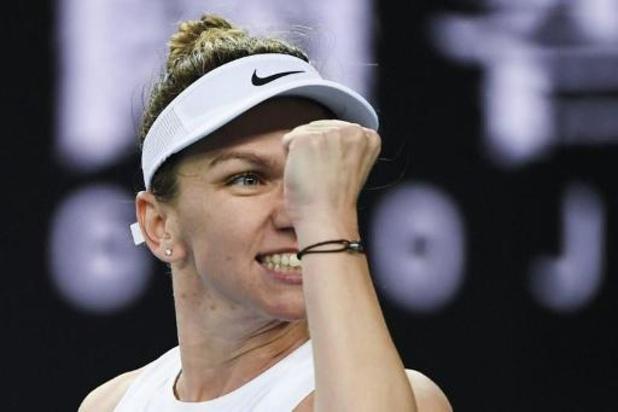 Simona Halep a bataillé un set avant d'expédier Jennifer Brady en Australie