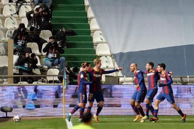 Les Belges à l'étranger - Le FC Barcelone premier finaliste après sa victoire aux tirs au but sur la Real Sociedad