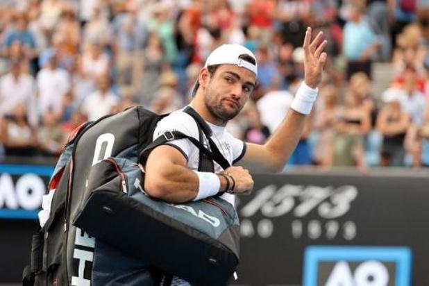 L'Italien Matteo Berrettini, 8e tête de série, éliminé dès le 2e tour par Tennys Sandgren à l'Open d'Australie
