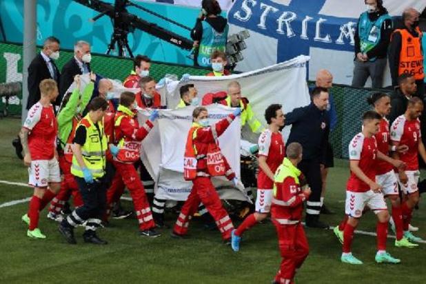 Christian Eriksen toujours dans un état stable au lendemain de son malaise cardiaque