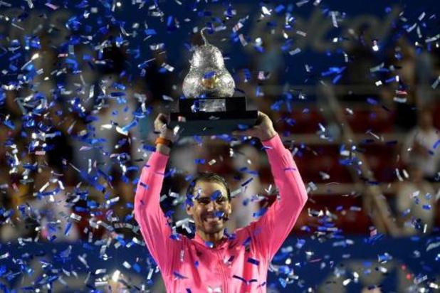 ATP Acapulco - Rafael Nadal is voor de derde keer de beste in Acapulco