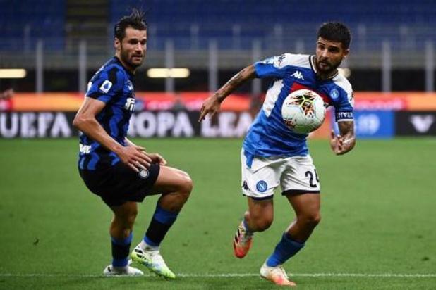 Lorenzo Insigne (Naples) incertain pour le déplacement à Barcelone