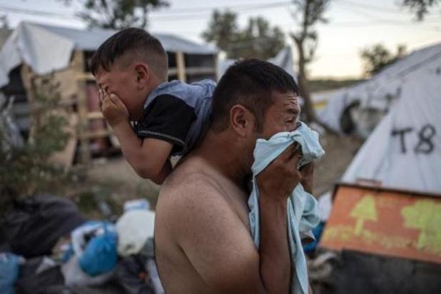 """Grèce: situation """"tragique"""" dans le camp de réfugiés de Moria, selon le HCR"""