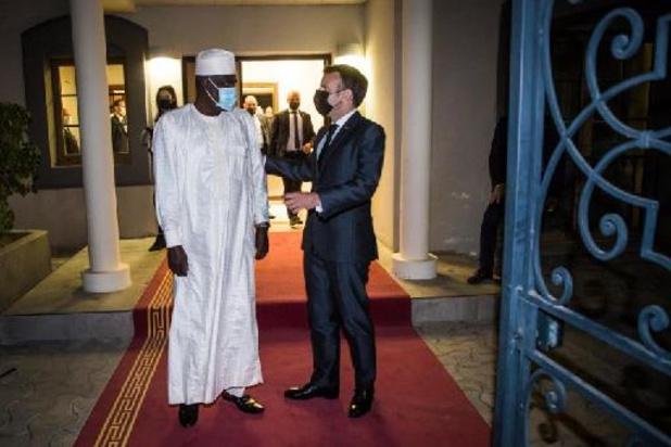 Macron in Tsjaad voor begrafenis president Déby