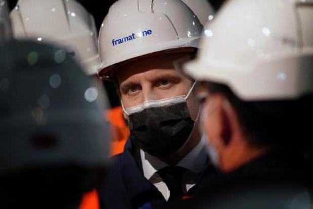 Macron kondigt vliegdekschip met nucleaire aandrijving aan en verdedigt kernenergie