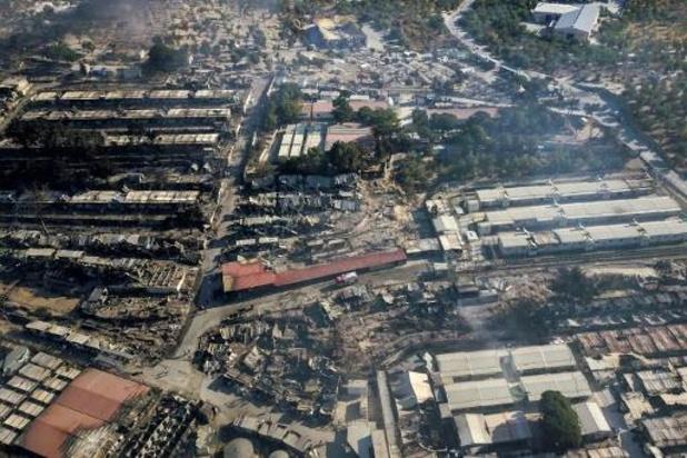 Nieuwe brand in restanten van kamp Moria
