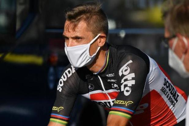 Tour de France - Philippe Gilbert zit opnieuw op de fiets na zijn val in de Tour