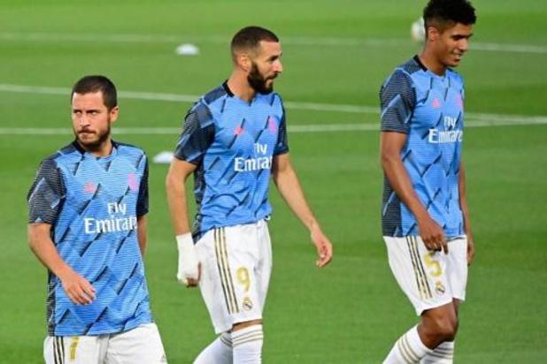 Belgen in het buitenland - Real Madrid herovert koppositie na zuinige winst bij hekkensluiter Espanyol