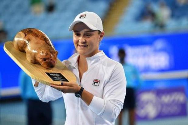 WTA Yarra Valley Classic - Ashleigh Barty steekt toernooizege op zak
