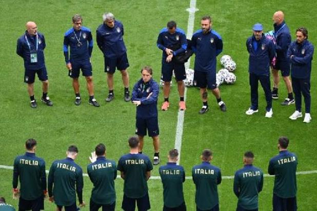 """Euro 2020 - """"Nous allons jouer notre jeu"""", a martelé Mancini à la veille d'affronter la Belgique"""