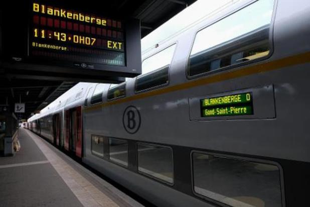 La SNCB renforce son offre de trains vers la Côte de jeudi à dimanche