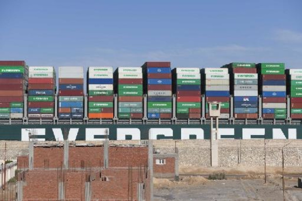 """Canal de Suez: pourparlers au """"point mort"""" sur l'Ever Given"""
