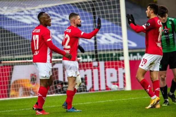 Standard pakt bij zwak Cercle Brugge zijn tweede zege op rij