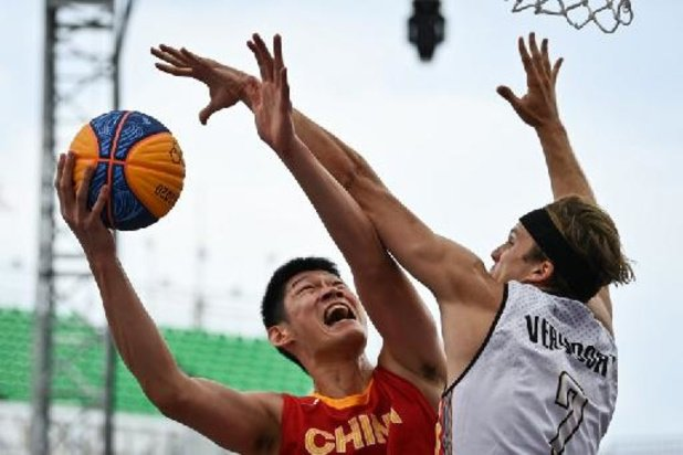 OS 2020 - Belgische basketters 3x3 lijden nipte nederlaag tegen China