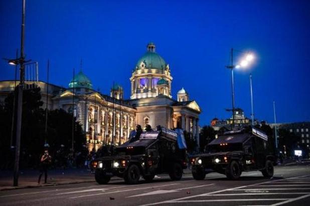 Coronavirus - Opnieuw rellen in Servische hoofdstad Belgrado