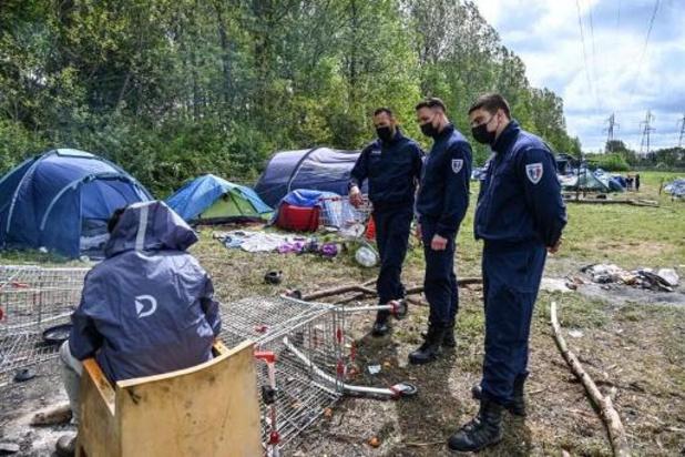 Migrantenkamp ontmanteld in Noord-Franse Grande-Synthe