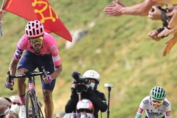 Tour de France: Daniel Martínez wint zware 13e etappe, Roglic blijft leider