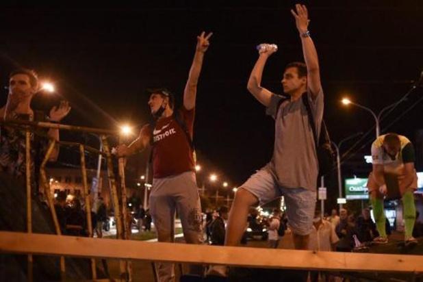 Opnieuw hevig nachtelijk protest in Minsk
