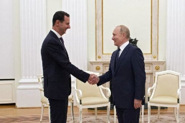 Poetin ontvangt Assad in Rusland en bekritiseert buitenlandse inmenging in Syrië