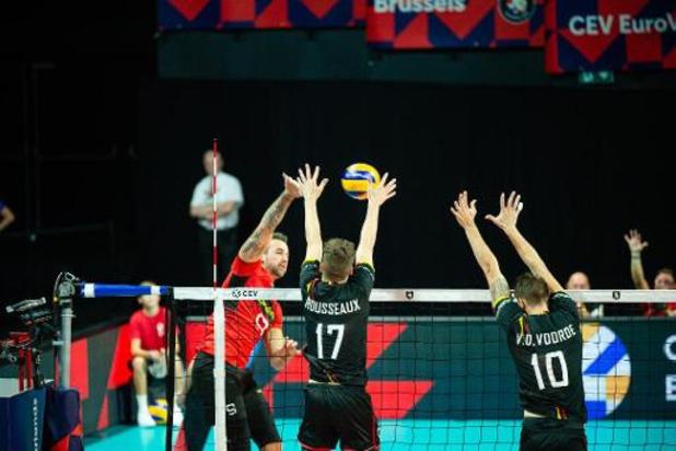 Euro de volley (m) - La Belgique bat de justesse l'Allemagne dans son 2e match et prend la tête du groupe B