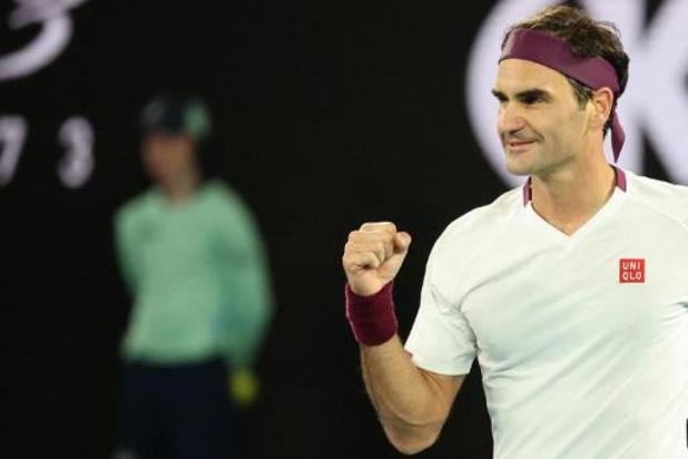 Roger Federer staat in de kwartfinales
