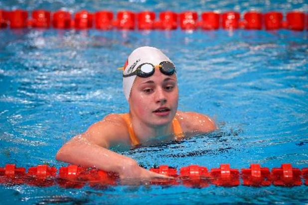 Valentine Dumont, 7e temps des séries, seule Belge en demi-finales du 200m de nage libre