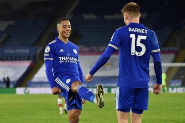 Les Belges à l'étranger - Leicester bat Southampton 2-0 avec deux assists de Tielemans