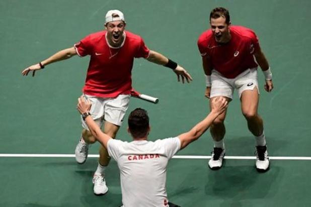 Canada is eerste halvefinalist van Davis Cup