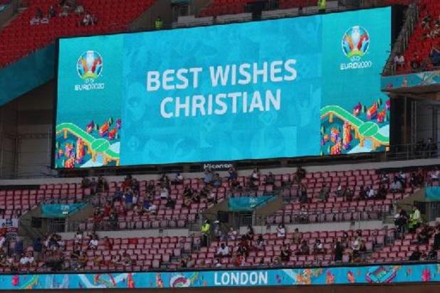 """Christian Eriksen """"va bien"""" et """"veut encourager le Danemark face à la Belgique"""""""