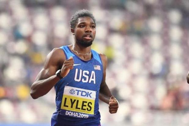 Mondiaux d'athlétisme - Lyles et De Grasse passent en demi-finales sur 200m
